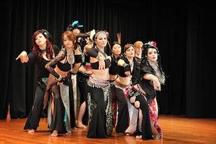 sur scène  ~ Pyramid Pulse 2013 - Opalesque Kalikah Jade Tribal Fusion Beginners Group