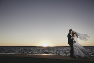 wedding ~ Travis & Tiarra - Sunset Beach Bribie Island Wedding ~ August 2017