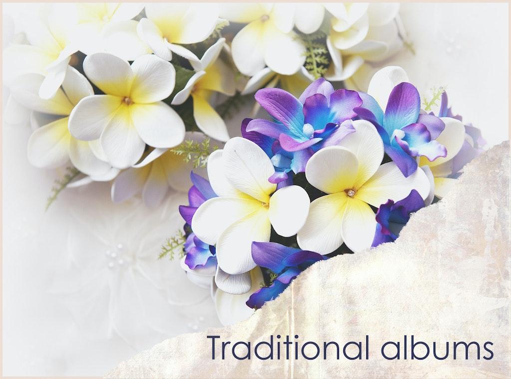Traditional wedding albums PSD