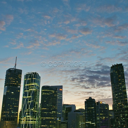 Brisbane's skyline, taken from the Story Bridge