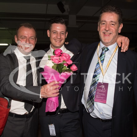 Melbourne Cup Barrier Draw, Bruce Clark, Adrian Dunn & James Vasil_31-10-15, Flemington,_0077