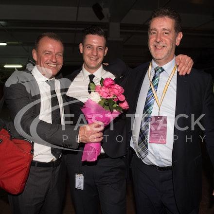 Melbourne Cup Barrier Draw, Bruce Clark, Adrian Dunn & James Vasil_31-10-15, Flemington,_0078