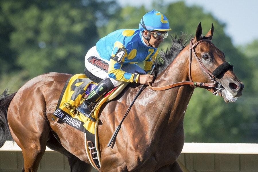 Race 12, American Pharoah, Victor Espinoza_02-08-15, Haskell, Monmouth Park, WIN_0347