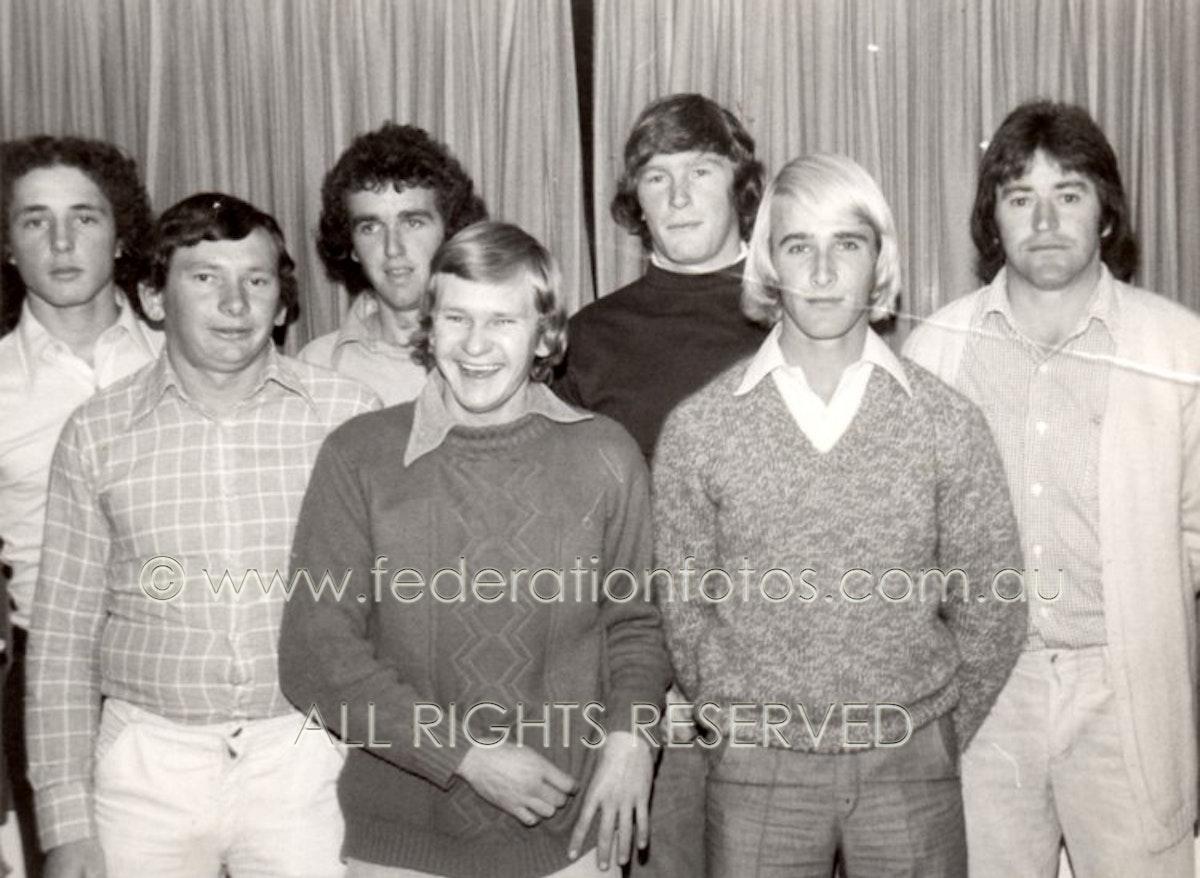 CanowindraStar-001 - Basketball | 1977 ???? Back Row : Daryl Rifty Grant, David Cleal, Phil Sargent, Brian McClintock Front Row : Doug Flannery, Westy...