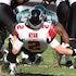NFL Game Atlanta Falcons vs. Philadelphia Eagles  - Atlanta Falcons Quarterback #2 Matt Ryan  is sacked by Philadelphia Eagles Linebacker #58 Trent Cole...