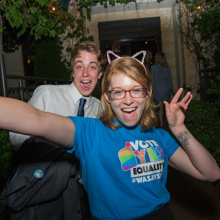 Marriage Equality: Celebratory Drinks - Politicians, Campaign workers and volunteers retire to Kingston Hotel to celebrate the passing of the Marriage...