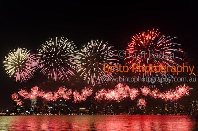 BP-1401-6256 - Australia Day Perth Skyworks 2014 Fireworks