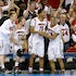 Savor the moment - Louisville players celebrate in the closing seconds of their 82-76 win over Michigan in the NCAA Men's Basketball Championship at the...