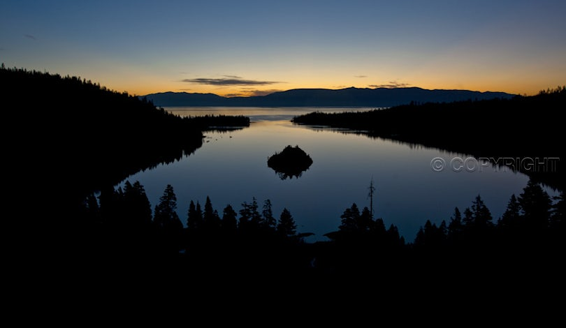 Emerald Bay sunrise - Sunrise over Emerald Bay, Lake Tahoe, California  Nikon D700, with a Nikkor 28-70mm f3.5-4.5 D zoom, set at 28mm. Exposure was...