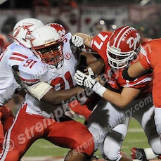 Portage vs. Crown Point - 9/19/14 - Crown Point defeated Portage 21-7 on Friday evening (9/19) in Crown Point.  Morgan Kral, Artie Equihua and Jesse Martin...