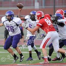 Merrillville vs. Crown Point - 9/4/15 - Merrillville returned the opening kickoff for a touchdown and cruised to a 40-0 win over Crown Point on Friday...