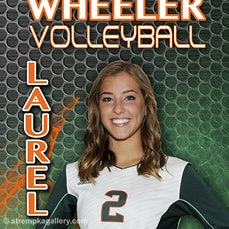 Wheeler Volleyball Banner Poses - 8/8/16 - Wheeler Volleyball Banner Poses.
