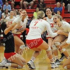 Munster vs. Crown Point (IHSAA Regional) - 10/25/16 - Crown Point was a three set winner over Munster in the IHSAA Volleyball Regional held at Crown Point...