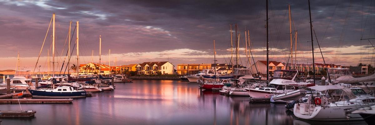 Golden hour @ the Marina