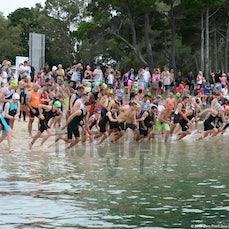 Bribie 13/14 #3 Short Swim - Bribie Race 3 Short Swim Start.  Not Searchable