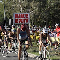 Bribie 13/14 #4 Short Swim Bike - Short Course Swim and Bike.  Searchable by Bib Number