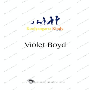 Koolyangarra Kindy - Violet Boyd