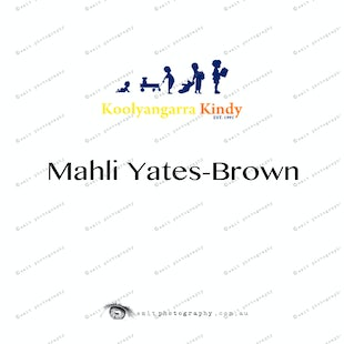 Koolyangarra Kindy -  Mahli Yates-Brown