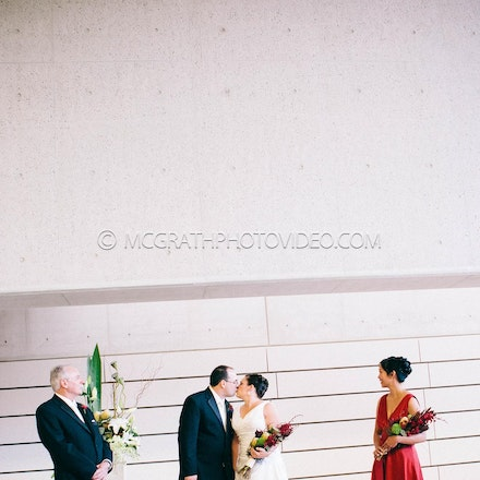 Neroli and Geoff - Neroli and Geoff enjoy their wedding day at the National Portrait Gallery in Canberra ACT.