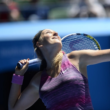 Blakeman_2014_104493 - Agnieszka RADWANSKA (POL) defeats Victoria AZARENKA (BLR) 6-1, 5-7, 6-0 on day 10 at Rod Laver Arena