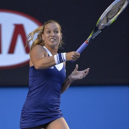 Blakeman_2014_107792 - Na LI (CHI) Defeats Dominika CIBUKOLVA (SVK) on day 13 at Rod Laver Arena