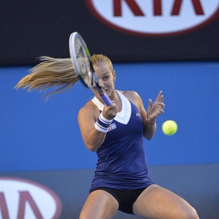 Blakeman_2014_107801 - Na LI (CHI) Defeats Dominika CIBUKOLVA (SVK) on day 13 at Rod Laver Arena