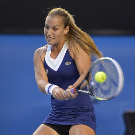 Blakeman_2014_107818 - Na LI (CHI) Defeats Dominika CIBUKOLVA (SVK) on day 13 at Rod Laver Arena
