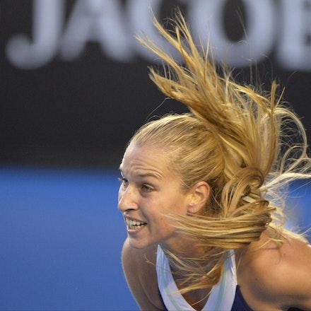 Blakeman_2014_107835 - Na LI (CHI) Defeats Dominika CIBUKOLVA (SVK) on day 13 at Rod Laver Arena