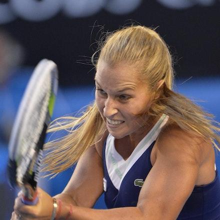 Blakeman_2014_107883 - Na LI (CHI) Defeats Dominika CIBUKOLVA (SVK) on day 13 at Rod Laver Arena