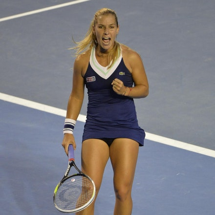 Blakeman_2014_108128 - Na LI (CHI) Defeats Dominika CIBUKOLVA (SVK) on day 13 at Rod Laver Arena