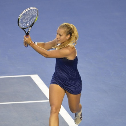 Blakeman_2014_108000 - Na LI (CHI) Defeats Dominika CIBUKOLVA (SVK) on day 13 at Rod Laver Arena