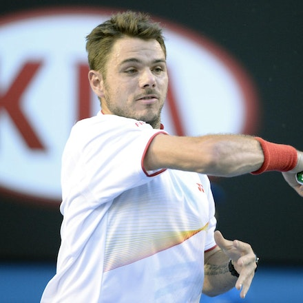 Blakeman_2014_109240 - Stanilas WAWRINKA (SUI) defeats Rafael NADAL (SPA) 6-3, 6-2, 3-6, 6-3on day 13 at Rod Laver Arena