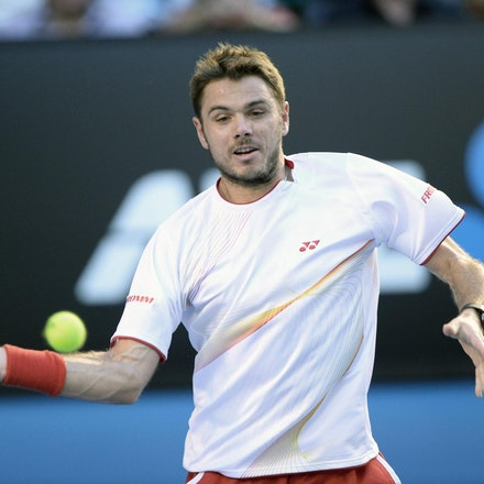Blakeman_2014_109242 - Stanilas WAWRINKA (SUI) defeats Rafael NADAL (SPA) 6-3, 6-2, 3-6, 6-3on day 13 at Rod Laver Arena
