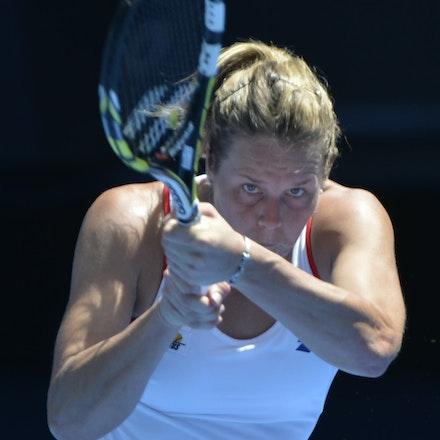 _PB14394 - 2015 19th January. Day 1 of the Australian Open Tennis. Simona Halep (ROU) defeats Karin Knapp (ITA) 6-3, 6-2 Karin in action