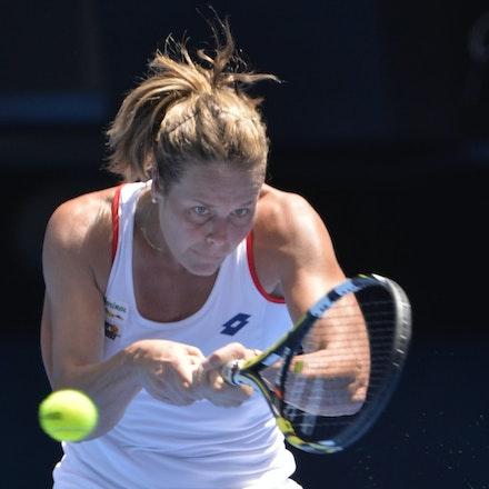 _PB14442 - 2015 19th January. Day 1 of the Australian Open Tennis. Simona Halep (ROU) defeats Karin Knapp (ITA) 6-3, 6-2 Karin in action