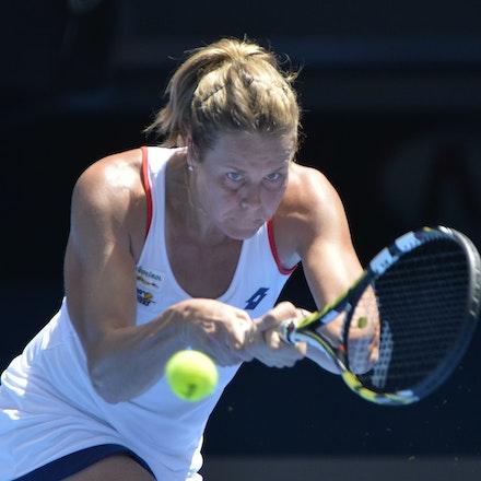 _PB14433 - 2015 19th January. Day 1 of the Australian Open Tennis. Simona Halep (ROU) defeats Karin Knapp (ITA) 6-3, 6-2 Karin in action