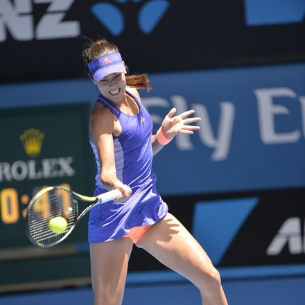 _PB14562 - 2015 19th January. Day 1 of the Australian Open Tennis. Lucie Hradecka (CZE) defeats Ana Ivanovic (SRB) 1-6, 6-3, 6-2 Ivanovic in action