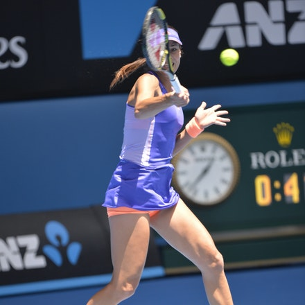 _PB14566 - 2015 19th January. Day 1 of the Australian Open Tennis. Lucie Hradecka (CZE) defeats Ana Ivanovic (SRB) 1-6, 6-3, 6-2 Ivanovic in action