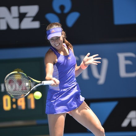 _PB14571 - 2015 19th January. Day 1 of the Australian Open Tennis. Lucie Hradecka (CZE) defeats Ana Ivanovic (SRB) 1-6, 6-3, 6-2 Ivanovic in action