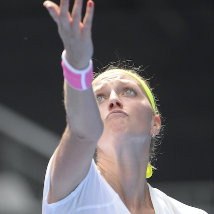 _PB16513 - 2015 20th January. Day 2 of the Australian Open Tennis. Petra Kvitova (CZE) defeats Richel Hogenkamp (NED) in straight sets 6-1 6-4 Kvitova...