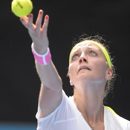 _PB16521 - 2015 20th January. Day 2 of the Australian Open Tennis. Petra Kvitova (CZE) defeats Richel Hogenkamp (NED) in straight sets 6-1 6-4 Kvitova...
