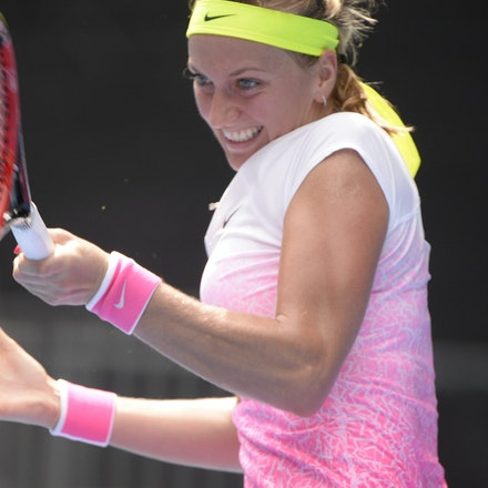 _PB16528 - 2015 20th January. Day 2 of the Australian Open Tennis. Petra Kvitova (CZE) defeats Richel Hogenkamp (NED) in straight sets 6-1 6-4 Kvitova...