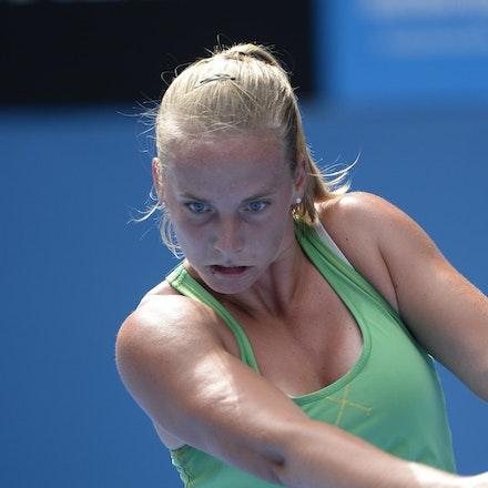 _PB16551 - 2015 20th January. Day 2 of the Australian Open Tennis. Petra Kvitova (CZE) defeats Richel Hogenkamp (NED) in straight sets 6-1 6-4 Hogenkamp...