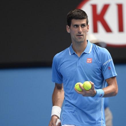 _PB16583 - 2015 20th January. Day 2 of the Australian Open Tennis. World Number 1 Novak Djokovic  (SRB) defeats Aljaz Bedene (SLO) in straight sets 6-3,...