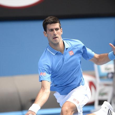 _PB16587 - 2015 20th January. Day 2 of the Australian Open Tennis. World Number 1 Novak Djokovic  (SRB) defeats Aljaz Bedene (SLO) in straight sets 6-3,...