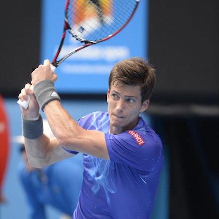 _PB16597 - 2015 20th January. Day 2 of the Australian Open Tennis. World Number 1 Novak Djokovic  (SRB) defeats Aljaz Bedene (SLO) in straight sets 6-3,...