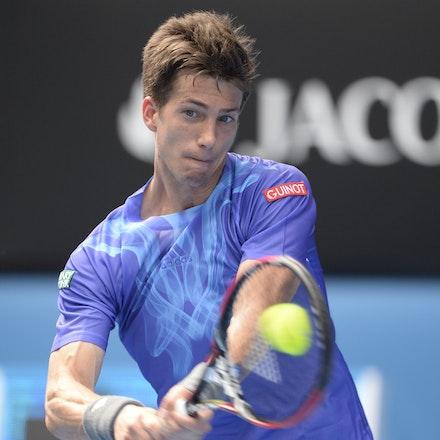 _PB16598 - 2015 20th January. Day 2 of the Australian Open Tennis. World Number 1 Novak Djokovic  (SRB) defeats Aljaz Bedene (SLO) in straight sets 6-3,...