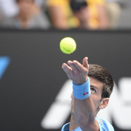 _PB16604 - 2015 20th January. Day 2 of the Australian Open Tennis. World Number 1 Novak Djokovic  (SRB) defeats Aljaz Bedene (SLO) in straight sets 6-3,...