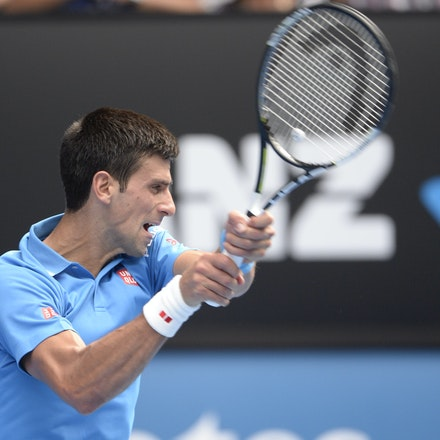 _PB16606 - 2015 20th January. Day 2 of the Australian Open Tennis. World Number 1 Novak Djokovic  (SRB) defeats Aljaz Bedene (SLO) in straight sets 6-3,...