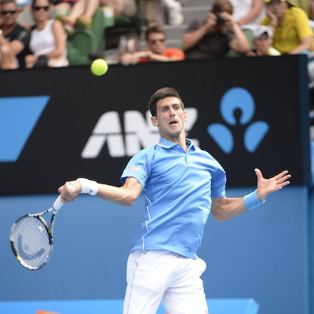 _PB16611 - 2015 20th January. Day 2 of the Australian Open Tennis. World Number 1 Novak Djokovic  (SRB) defeats Aljaz Bedene (SLO) in straight sets 6-3,...